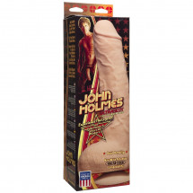 Телесный фаллоимитатор John Holmes Ultraskyn Realistic Cock with Removable Vac-U-Lock Suction Cup - 25,1 см.
